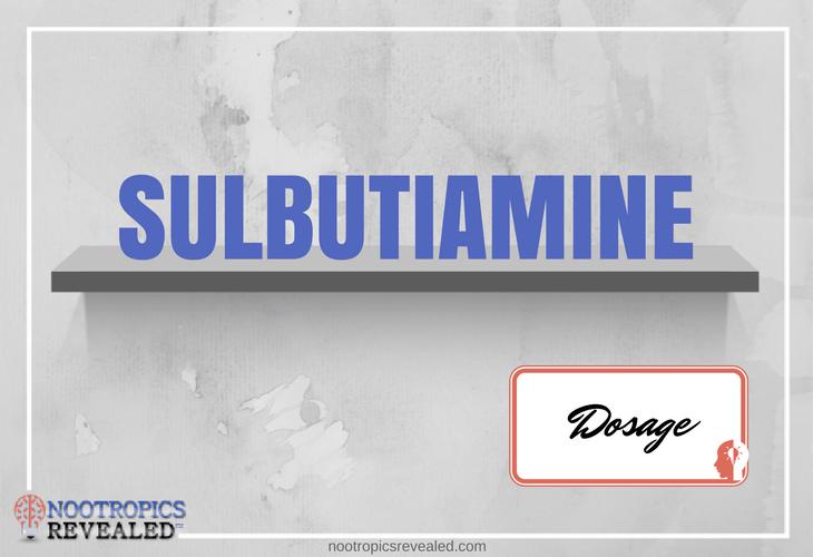 Sulbutiamine Dosage