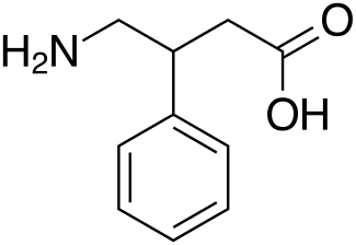 molecular structure of phenibut